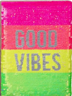 Neon Sequin Good Vibes Activity Journal
