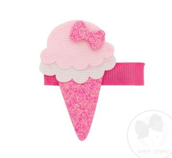 Wee Ones - Glitter Ice Cream Cone Clip