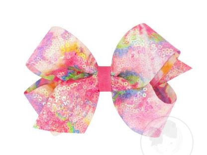 Wee Ones - Sequined Tie Dye Bow