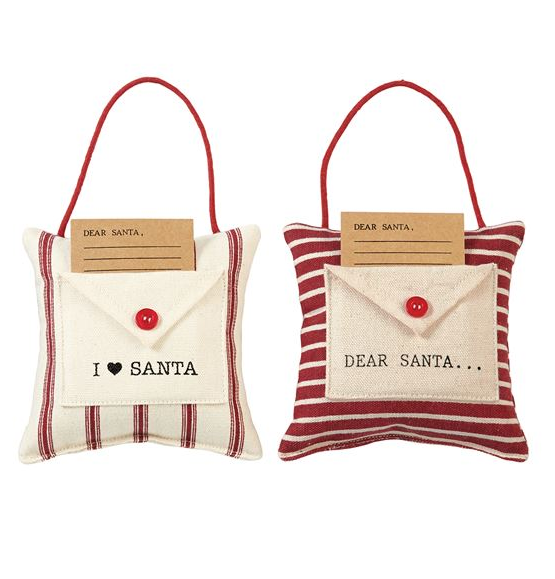 MudPie - Letters to Santa Hanging Pillows