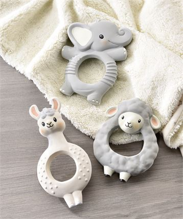 Lil Llama Characters Natural Rubber Teething Rings