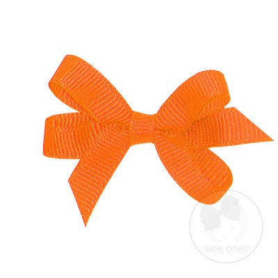 Wee Ones Hair Bow- Clemson Orange or Purple - Baby Size