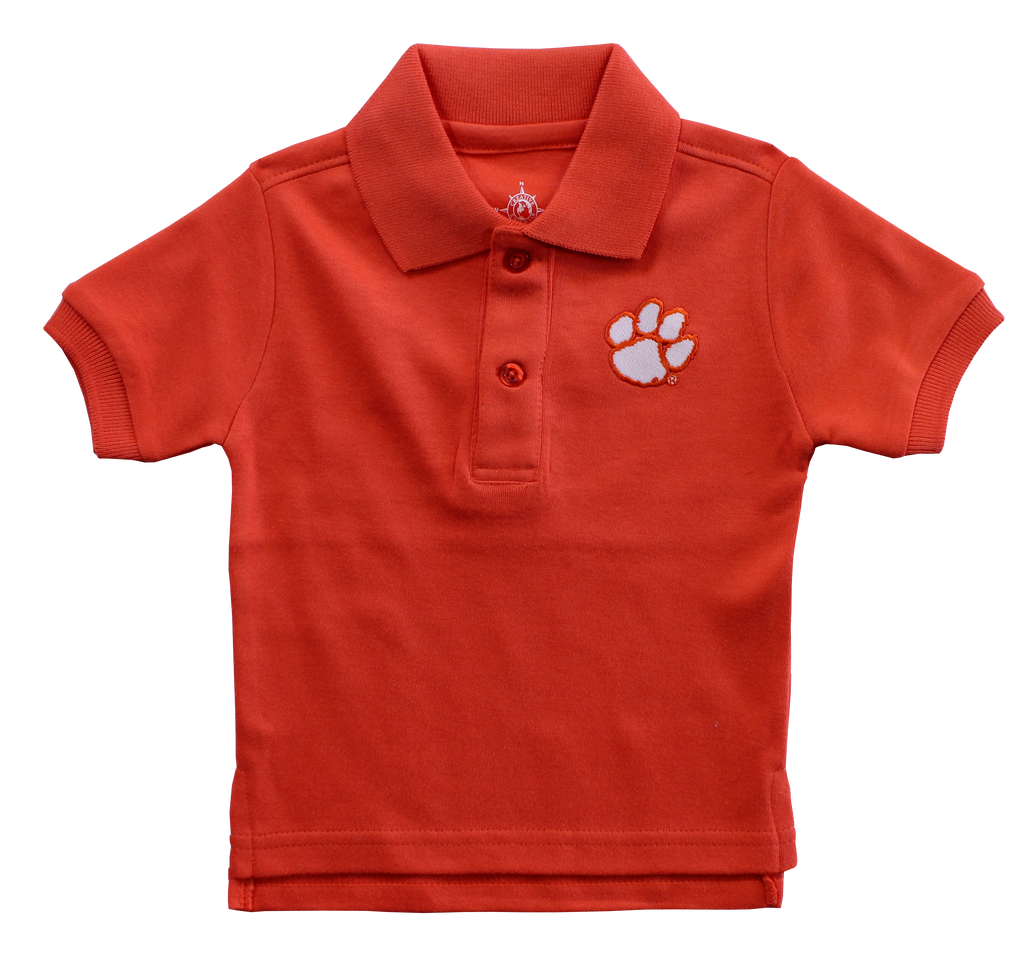 Clemson Polo Shirt in Orange or White