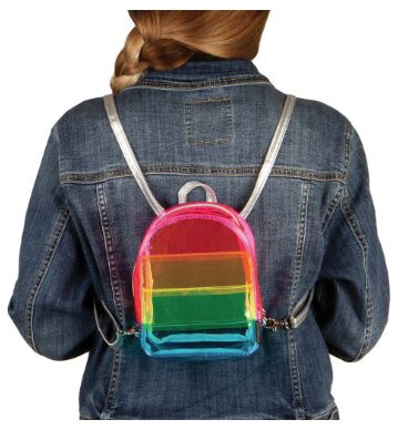Transparent Rainbow Micro-Mini Backpack