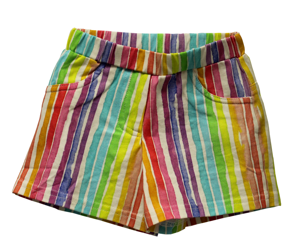 Joyous and Free - Rainbow Striped Milly Shorts