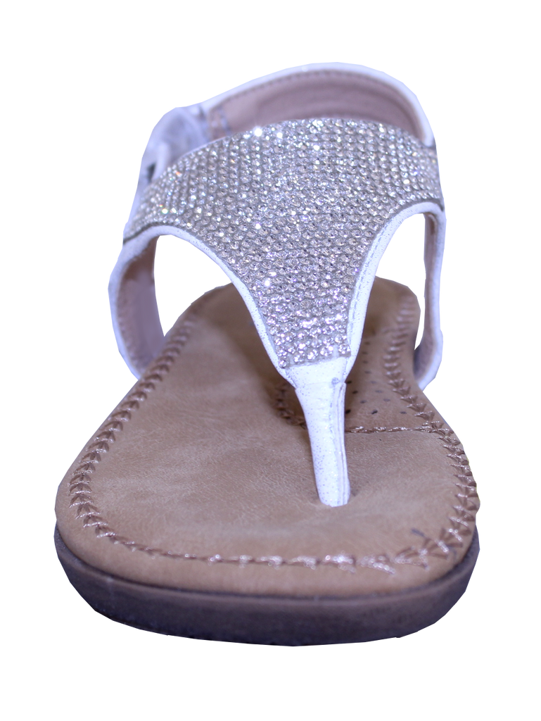 Bumblebee Glitter Sandal in Silver Sparkle by Volatile Kids