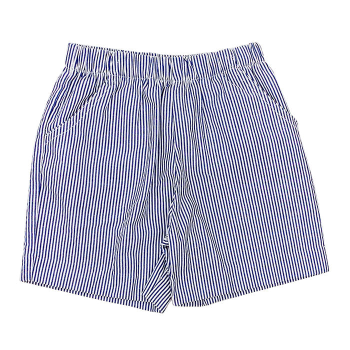 Bailey Boys - Boys Navy Stripe Seersucker Shorts