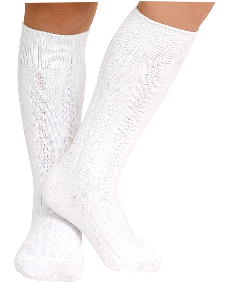 Classic Cable Knee High Socks