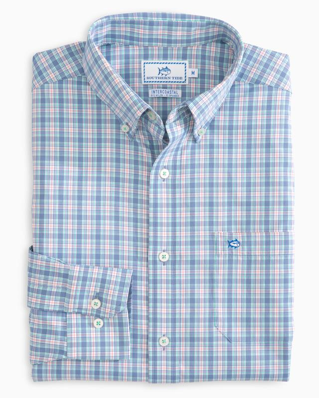 Southern Tide - Boys' Duneside Plaid Intercoastal Performance Shirt