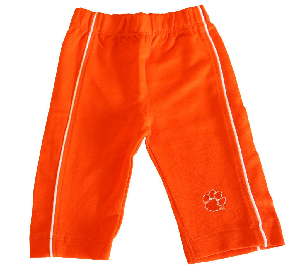 Clemson Side Stripe Pants with Pocket - Orange or Purple
