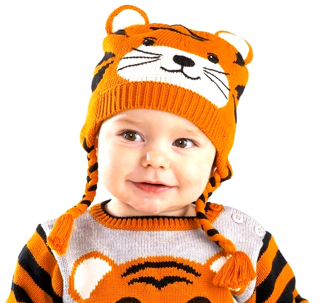 Knitted Tiger Hat