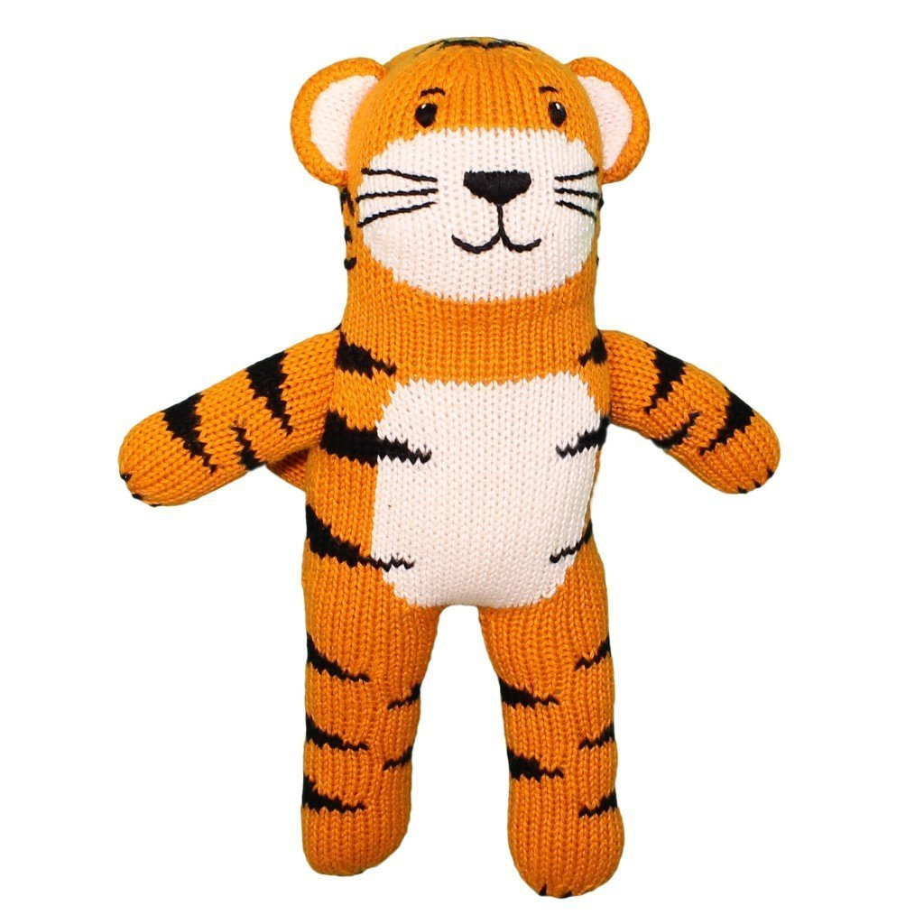 Knitted Tiger Rattle and Toy