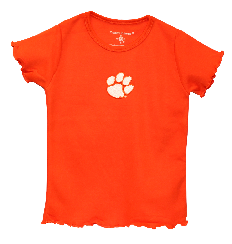 Clemson Orange Ruffled T-Shirt