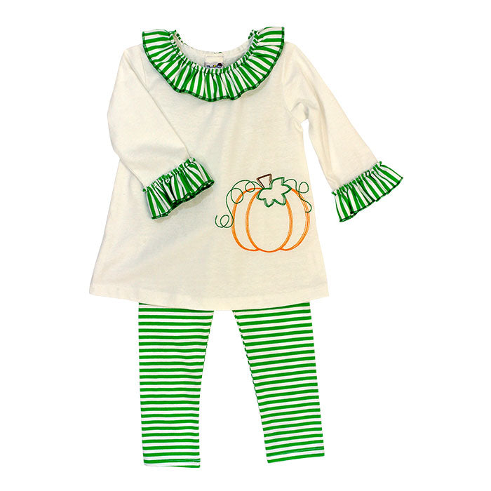 Bailey Boys - Girls' Pumpkin Stitch Tunic Set
