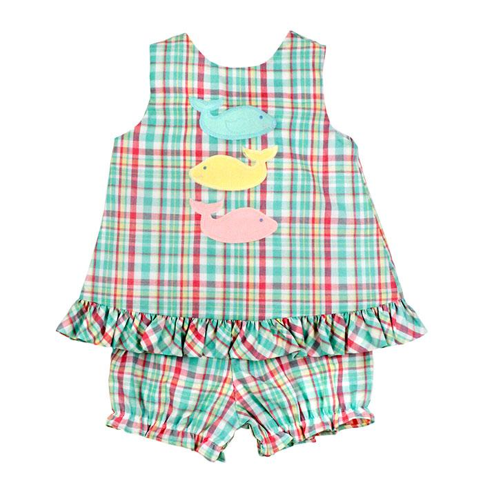 Bailey Boys - Three Whales Angel Dress with Bloomers