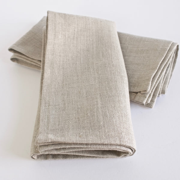 Natural Linen Napkin. Set of 4