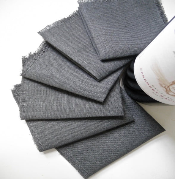 Cocktail Napkins - Set of 6, Linen Cocktail Napkins, Cloth Napkin, Appetizer Napkins