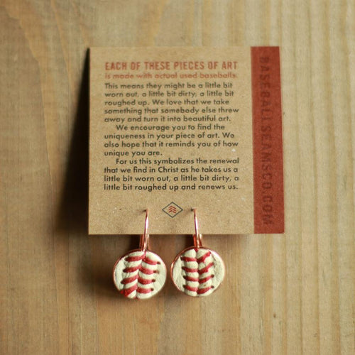 Baseball Seam Earrings