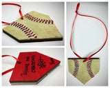 Limited Edition Baseball Seams Christmas Ornaments