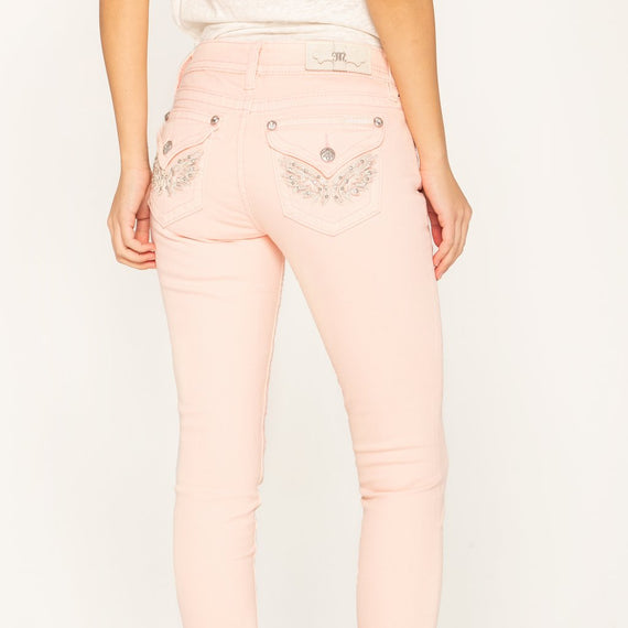 MISS ME SKINNY JEAN HAILEY ANGELS HAVEN, BUBBLEGUM LIGHT PINK