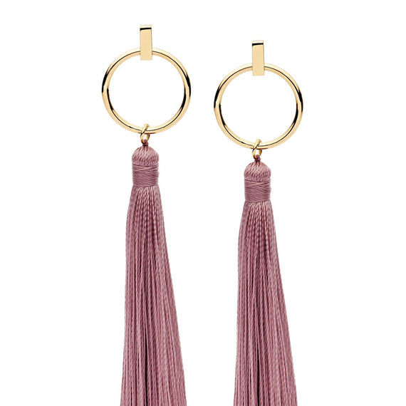 PASTICHE TASSLE EARRINGS IN YELLOW GOLD STAINLESS STEEL