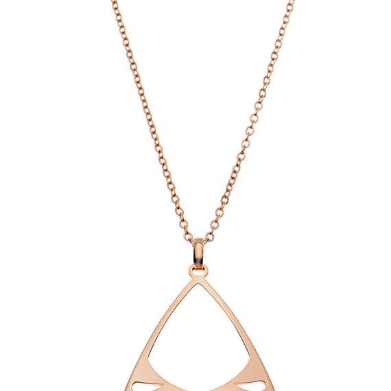 PASTICHE MALDIVES NECKLACE IN STAINLESS STEEL, ROSE GOLD