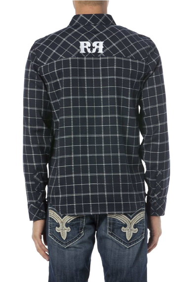 ROCK REVIVAL NAVY LONG SLEEVE SHIRT