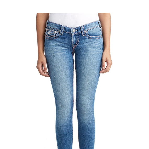 TRUE RELIGION SKINNY JEAN W/FLAP BIG T PINK NATURALINE, MOONSTONE