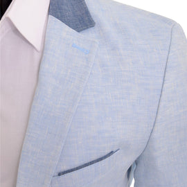 CIPO & BAXX MENS JACKET BLAZER, LIGHT BLUE