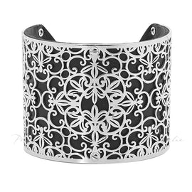 PASTICHE CUT OUT BANGLE, STAINLESS STEEL