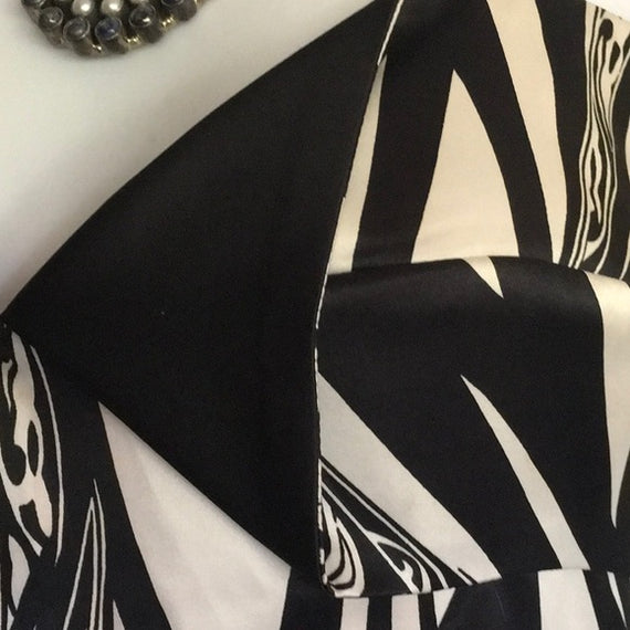 CAVALLI BLACK/WHITE PRINT DRESS