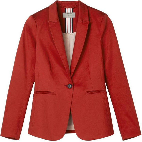 SANDWICH, BLAZER, DARK RED/ORANGE