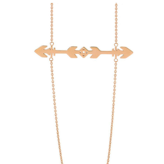 PASTICHE KOKO ROSE GOLD STAINLESS STEEL NECKLACE