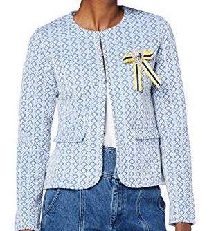 RICH & ROYAL JACKET POWEDER BLUE WITH YELLOW JEWELED BOW