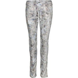 NU DENMARK PANTS, SNAKESKIN PATTERN, CREAM