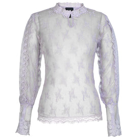 NU DENMARK LACE LONG SLEEVE TOP, FRILL DETAIL, SYREN