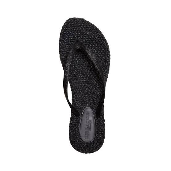 ISLE JACOBSEN FLIP FLOP THONGS, BLACK