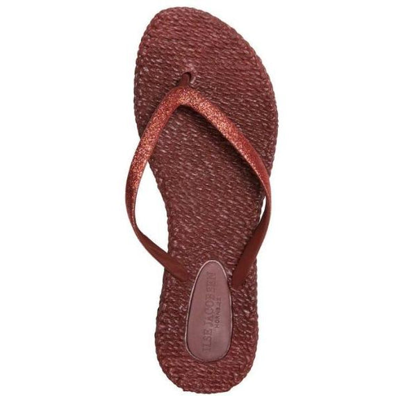 ISLE JACOBSEN FLIP FLOP THONGS, WINE