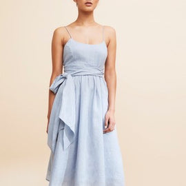 GRACE WILLOW CALLISTA DRESS, DUSTY BLUE