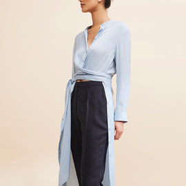 GRACE WILLOW ALLY SHIRT DRESS / TOP / JACKET, DUSTY BLUE