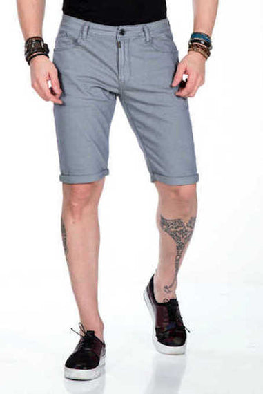 CIPO & BAXX MENS SHORT'S ROLLED CUFF, GREY