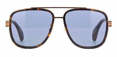 GUCCI SUNGLASSES, HAVANA TORTISE SHELL(55)-2