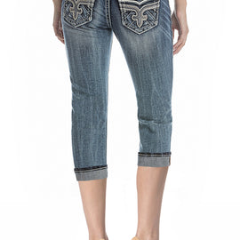 ROCK REVIVAL BORIS P225 CAPRI JEANS