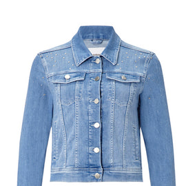 RICH & ROYAL DENIM JACKET, RHINESTONES, BLUE
