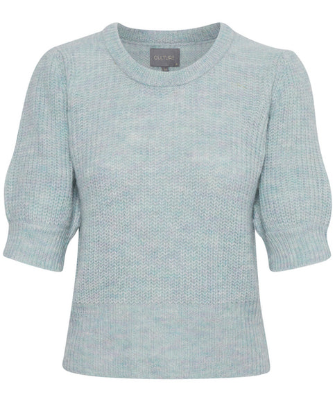CULTURE DENMARK REESE PULLOVER SWEATER KNIT, ROUND NECK, POWDER BLUE