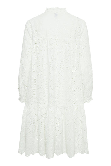 CULTURE DENMARK ANGLAISE DRESS, WHITE