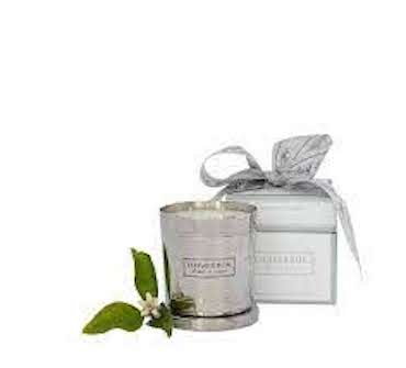 FLOWER BOX SILVER CANDLE GIFT BOXED, 290 GRAM