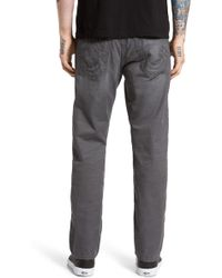 TRUE RELIGION GENO NO FLAP SLIM PANT SE DARK GREY
