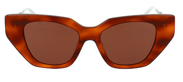 GUCCI SUNGLASSES, HAVANA (55)-3, CRYSTAL ARMS, TORT
