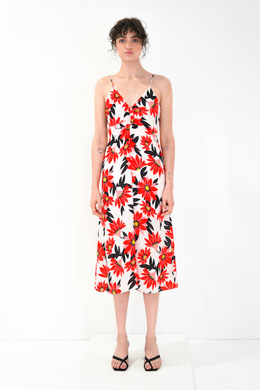 GRACE WILLOW GEMMA SPAGHETTI STRAP DRESS, DAHLIA PRINT